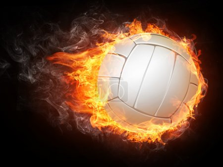 Photo for Volleyball Ball on White Background. - Royalty Free Image