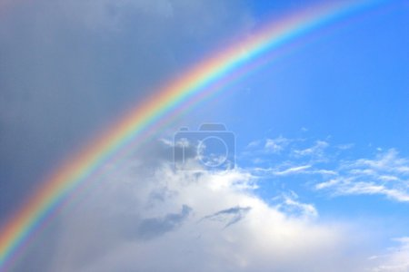 Photo for Colorfull rainbow and clouds - Royalty Free Image