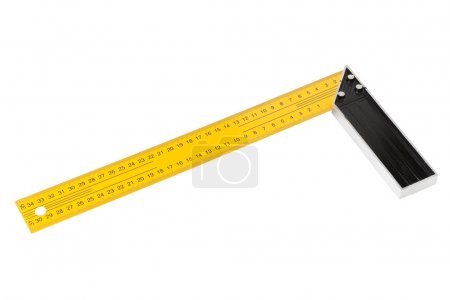Iron Ruler with angle bar, set square