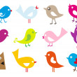 Set of cute vector birds...
