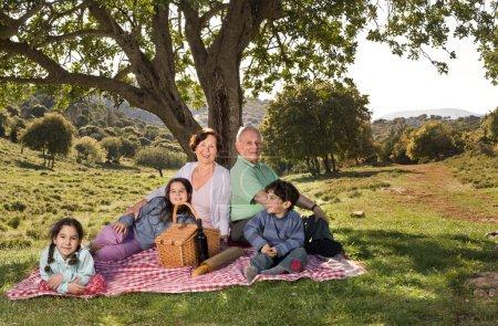 Grandparents grandchild picnic