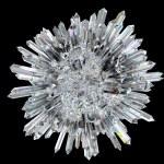 Diamond sphere with acute columns over black backg...