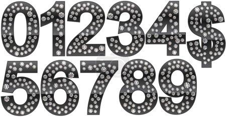 Diamond numerals and dollar symbol