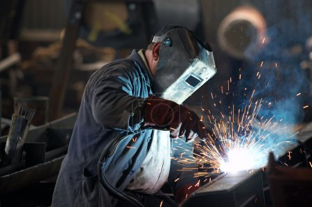 Photo for Welder man in work - Royalty Free Image