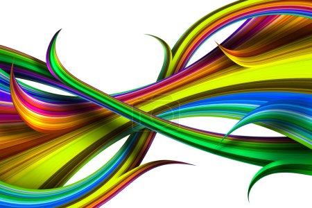 abstrakte farbenfrohe irisierende Figuren