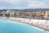 Francie, nice, blue beach