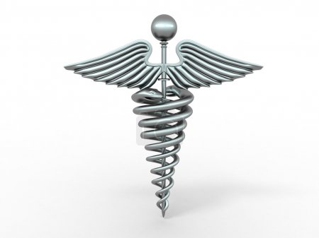 Photo for Symbol of medicine. 3d - Royalty Free Image