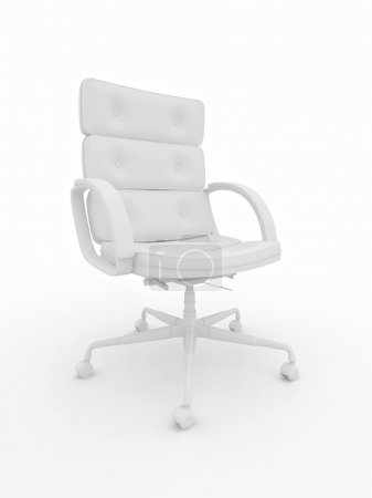 Office armchair on white isolared background