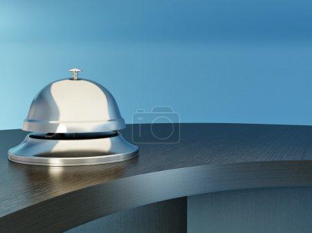 Photo pour Hôtel bell sur la table. réception. 3D - image libre de droit