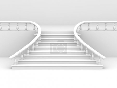 Photo for Abstract background. Stairs. 3d - Royalty Free Image