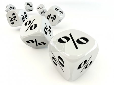 Photo for Dice. Cube with percent. 3d - Royalty Free Image