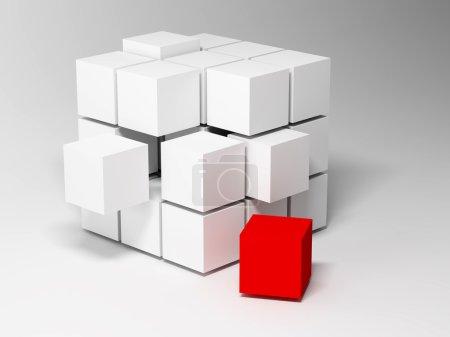 Photo pour Des cubes. Contexte abstrait. 3d - image libre de droit