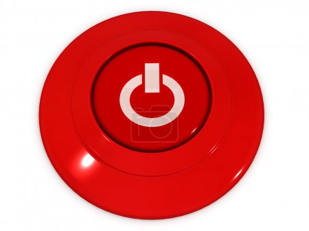 Foto de Botón de energía. 3d - Imagen libre de derechos