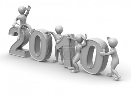 Photo for New Year. 2010. 3d - Royalty Free Image