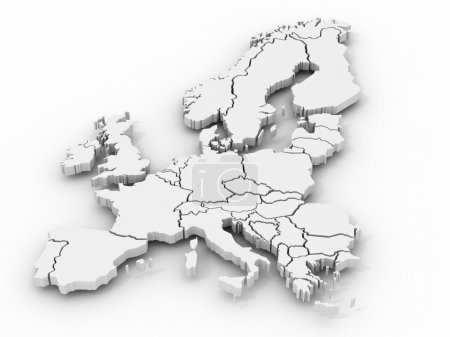 Photo for Map of europe. 3d - Royalty Free Image