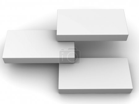 Photo for Abstract structure from three boxes. 3d - Royalty Free Image