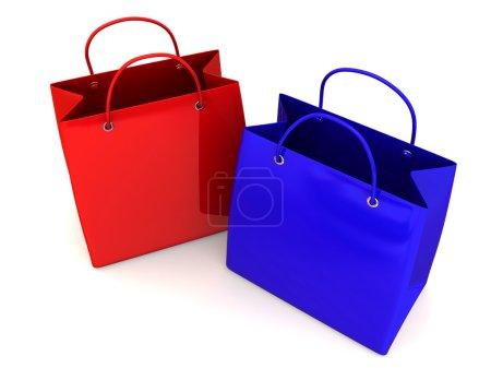 Shopping bags. 3d