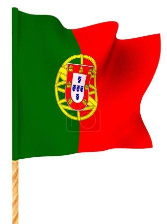Flag. portugal. 3d...