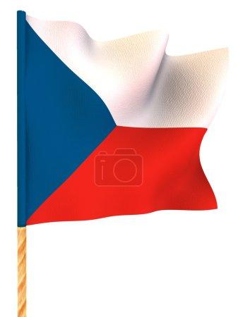 Flag. Czech. 3d...