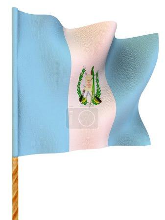 Flag. Guatemala. 3d...