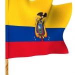 Flag. Ecuador. 3d...