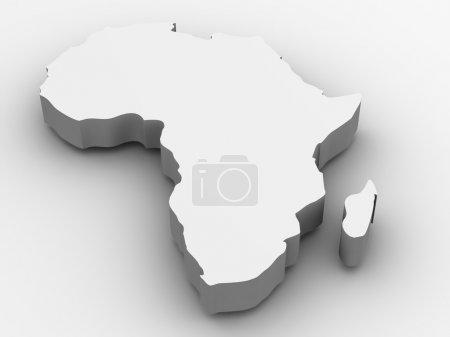 Photo pour L'Afrique. 3d - image libre de droit