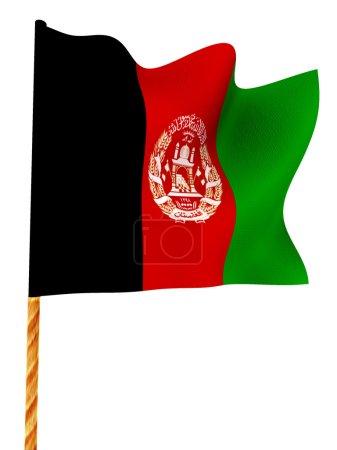 Flag. Afganistan