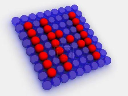 Photo pour Flèche de sphères. 3D - image libre de droit