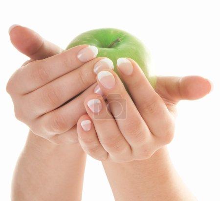 Apple in beautiful hands
