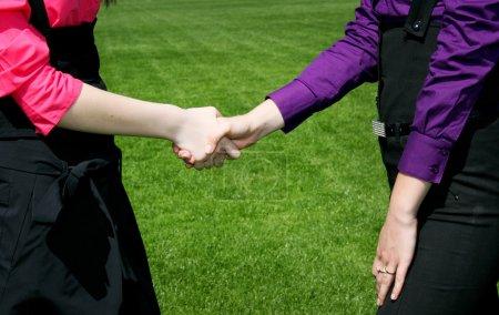 Women in business, handshake