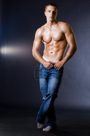 Young bodybuilder man
