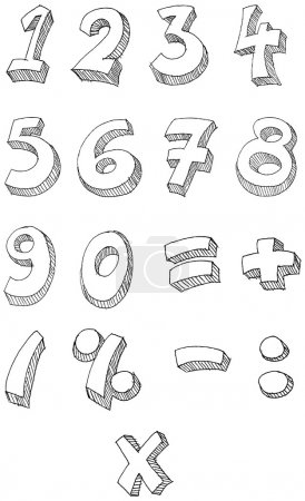 Numbers hand written