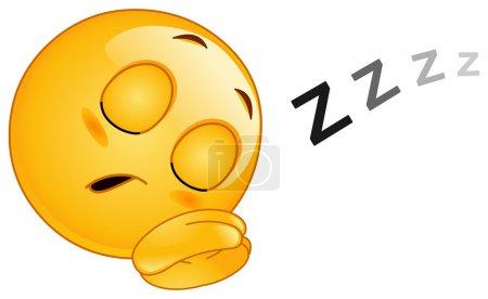 Illustration for Sleeping emoticon - Royalty Free Image