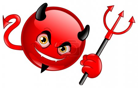 Illustration for Devil emoticon - Royalty Free Image