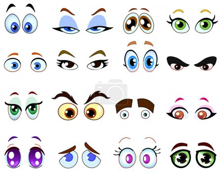 Illustration for Cartoon eye set - Royalty Free Image