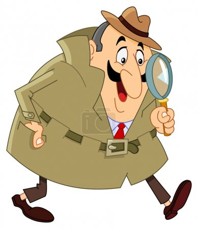 Illustration for Cartoon detective - Royalty Free Image