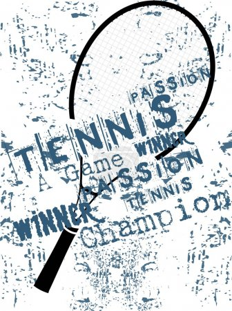 Grunge background of tenis rackets