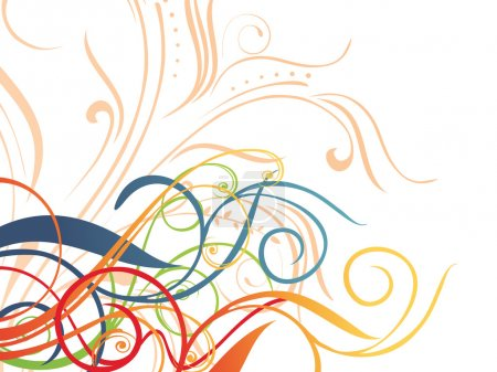 Illustration for Abstract creative design background, vector wallpaper - Royalty Free Image