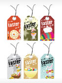 Background with set of easter day tag