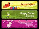 Šťastné Velikonoce den banner ilustrace