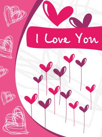 Love card with funky design