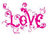 Love background with lovely swirl design