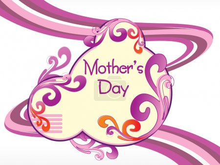 Illustration for Artistic and creative design mother day background with stripes line background - Royalty Free Image