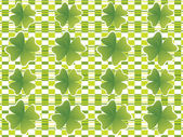 Abstract pattern with shaarock st patrick's background