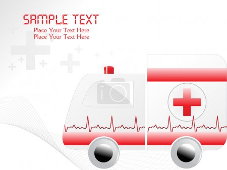 Illustration for Abstract wavy medical background with ambulance - Royalty Free Image
