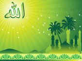 Illustration of ramadan background