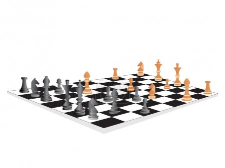 Illustration for Vector chess board and figures, set5 - Royalty Free Image