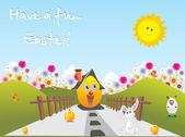 Vektorové ilustrace velikonoční rodiny
