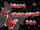 Abstract happy friendship background with many buterfly
