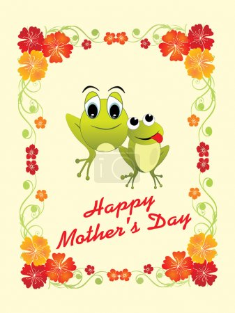Illustration for Vector illustration of happy mother day background - Royalty Free Image